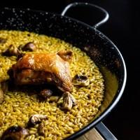 Arroz de pollo y setas