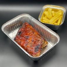 Costilla de cerdo con salsa barbacoa